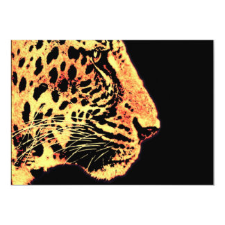 Leopards Face with Whiskers (l3) Card