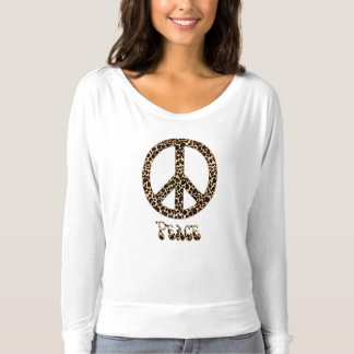 Leopards for Peace ~ Leopard Print Peace Sign T-shirt