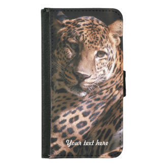 Leopards Gaze - Galaxy S5 Wallet Phone Case For Samsung Galaxy S5