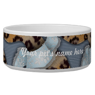Leopards 'n Lace - blue - Bowl