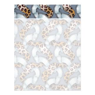 Leopards 'n Lace - blue - Letterhead