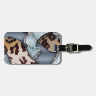 Leopards 'n Lace - blue - Luggage Tag