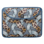 Leopards 'n Lace - blue - MacBook Pro Sleeve