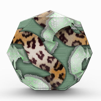 Leopards 'n Lace - green - Acrylic Award