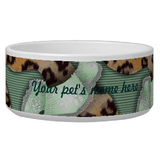 Leopards 'n Lace - green - Bowl