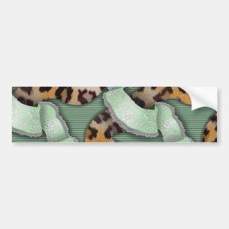 Leopards 'n Lace - green - Car Bumper Sticker