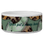 Leopards 'n Lace - green - Dog Water Bowls
