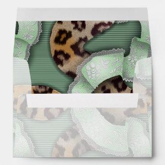 Leopards 'n Lace - green - Envelope