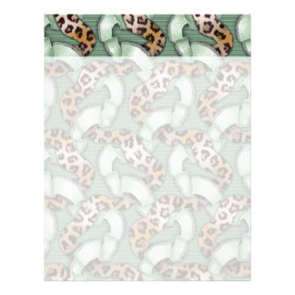 Leopards 'n Lace - green - Letterhead