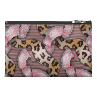 Leopards 'n Lace - intense pink - Travel Accessory Bags