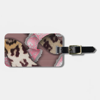 Leopards 'n Lace - intense pink - Bag Tag