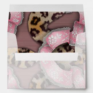 Leopards 'n Lace - intense pink - Envelope