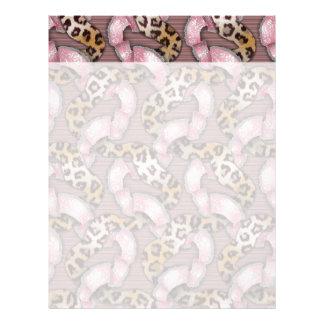 Leopards 'n Lace - intense pink - Letterhead