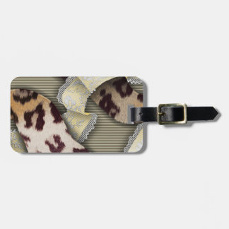 Leopards 'n Lace - ivory Bag Tag