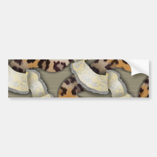 Leopards 'n Lace - ivory Car Bumper Sticker