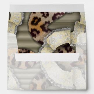 Leopards 'n Lace - ivory Envelope
