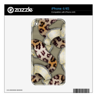 Leopards 'n Lace - ivory iPhone 4 Decal