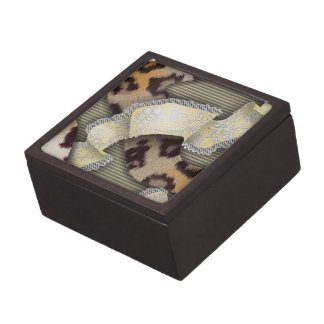 Leopards 'n Lace - ivory Jewelry Box