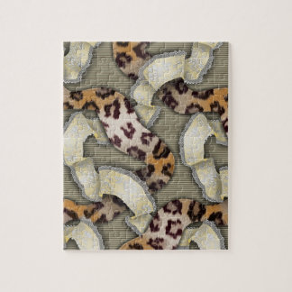 Leopards 'n Lace - ivory Jigsaw Puzzle