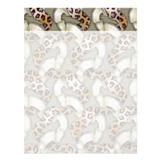 Leopards 'n Lace - ivory Letterhead