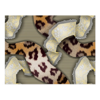Leopards 'n Lace - ivory Postcard