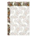 Leopards 'n Lace - ivory Stationery Design
