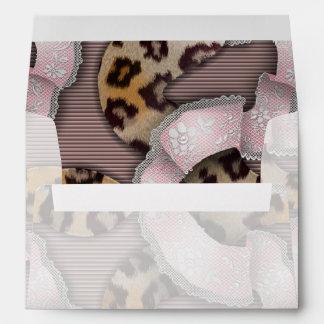 Leopards 'n Lace - pastel pink - Envelopes