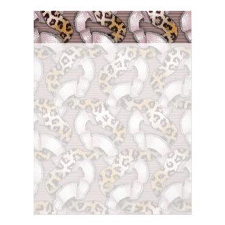 Leopards 'n Lace - pastel pink - Letterhead