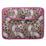 Leopards 'n Lace - pastel pink - Sleeves For MacBook Pro