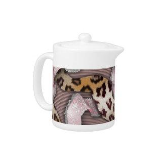 Leopards 'n Lace - pastel pink - Teapot