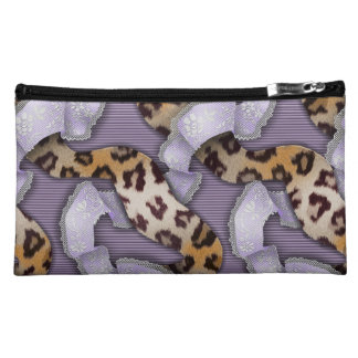 Leopards 'n Lace - purple - Cosmetic Bag