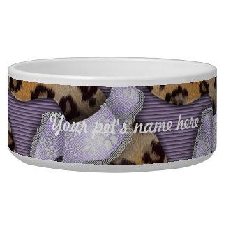 Leopards 'n Lace - purple - Bowl