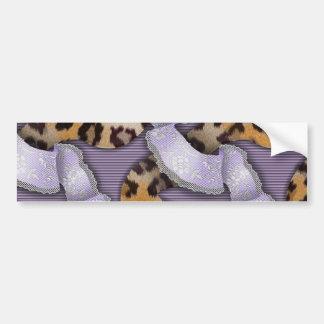 Leopards 'n Lace - purple - Car Bumper Sticker