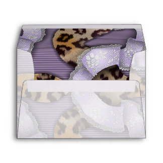 Leopards 'n Lace - purple - Envelope
