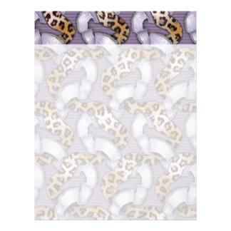 Leopards 'n Lace - purple - Letterhead