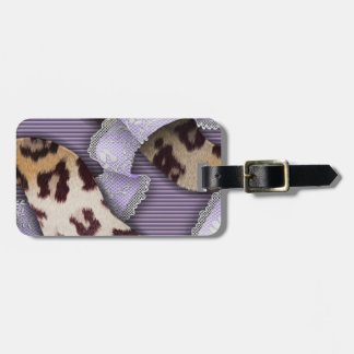 Leopards 'n Lace - purple - Luggage Tag