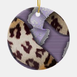 Leopards n Lace - purple - Ornaments
