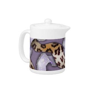 Leopards 'n Lace - purple - Teapot