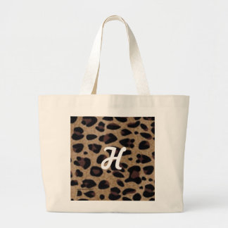 """""""LEOPARDSKIN PERSONALIZED TOTE"""" LARGE TOTE BAG"""