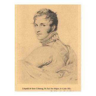Leopold de Saxe-Coburgo-Gotha, rey Leopold I #002B Postal