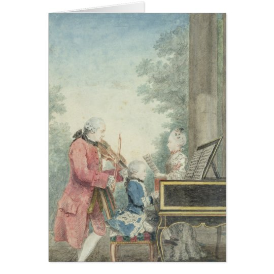 Leopold Mozart  and his Children Wolfgang Card