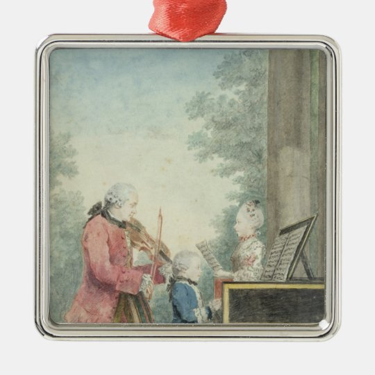 Leopold Mozart  and his Children Wolfgang Metal Ornament