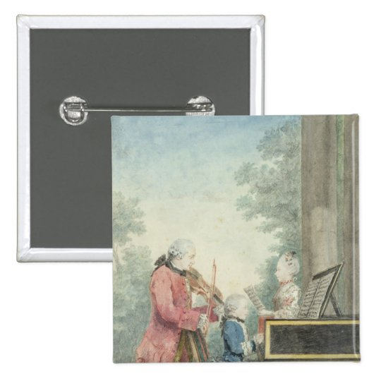 Leopold Mozart  and his Children Wolfgang Pinback Button