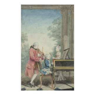 Leopold Mozart  and his Children Wolfgang Poster