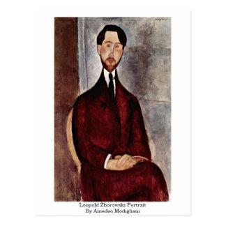 Leopold Zborowski-Portrait By Amedeo Modigliani Postcard