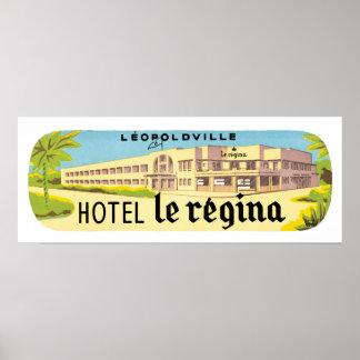 Leopoldville Hotel Le Regina Poster