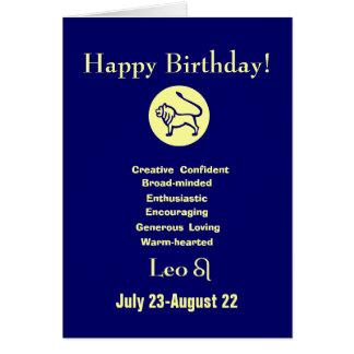 Leo's birthday - horoscope greeting card