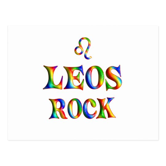Leos Rock Postcard