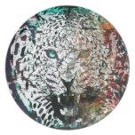 lepard del vector plato de cena