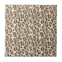 Lepard Spots in Natural Colors. Ceramic Tile